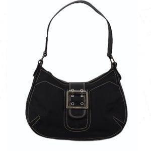 BCBGirls Black with Silver Shoulder Bag